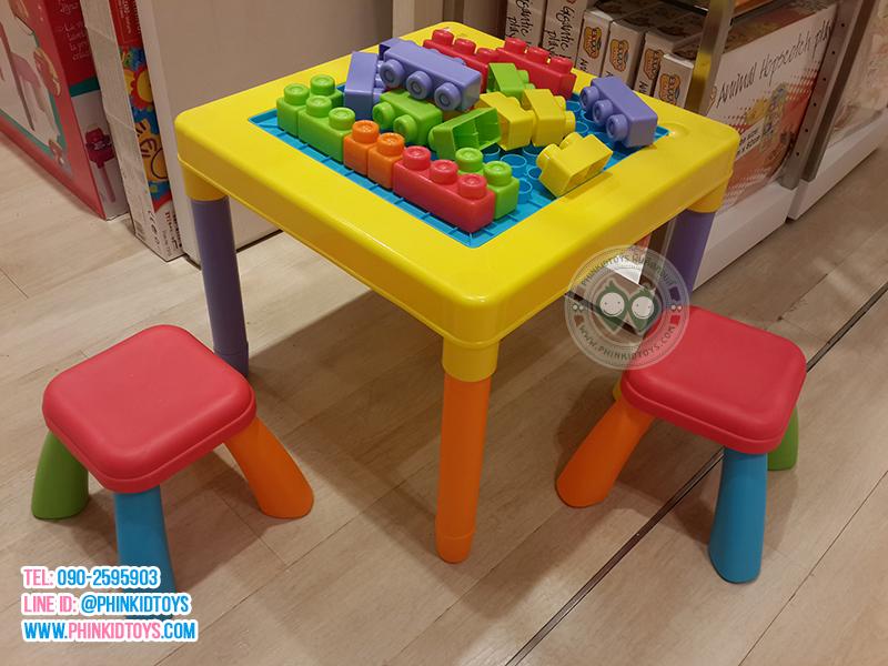 รีวิว Playgo My Play table โต๊ะกิจกรรมบล็อกตัวต่อ-01
