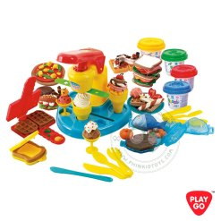 8662 Playgo Food Court แป้งโดว์ชุดครัวใหญ่