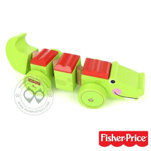 รถจรเข้ไม้ Fisher Price - My First Wiggly Crocodile