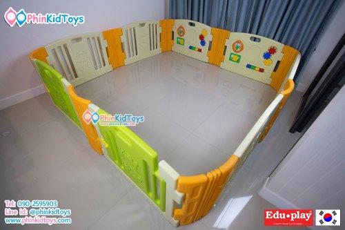 รั้วกั้นเด็ก คอกกั้นเด็ก EDUPLAY รุ่น Happy Baby Room สีเขียวครีมส้ม