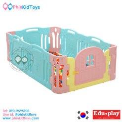 รั้วกั้นเด็ก คอกกั้นเด็ก EDUPLAY รุ่นจังจัง Azang Azang Baby Room สีเขียวมิ้นต์ Size M