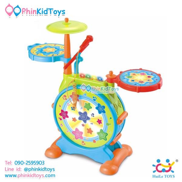 กลองชุดอิเล็คทรอนิคส์สำหรับเด็ก Huile Toys Dynamic Jazz Drum