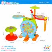 กลองชุดอิเล็คทรอนิคส์สำหรับเด็ก Huile Toys Dynamic Jazz Drum-9