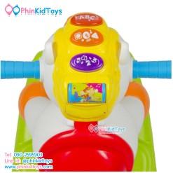 Huile Toys 3in1 ม้าโยกและม้าขาไถ Happy Rocking Pony
