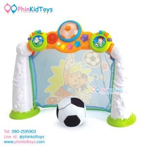 โกลบอลฟุตบอลเด็กเล็ก มีเสียงมีไฟ Huile Toys Scoring Goals