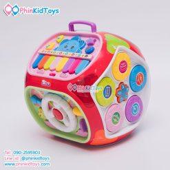 กล่องกิจกรรม 7 ด้าน Educational Toy House Multi function game learning เป่าเปา