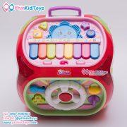 กล่องกิจกรรม 7 ด้าน Educational Toy House Multi function game learning เป่าเปา สีแดง-08