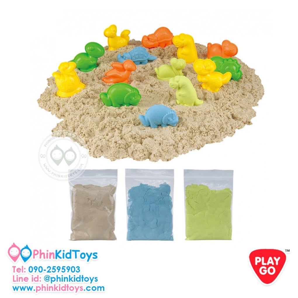 Playgo Sand-Tastic Moulding Set - Art Sand Dino Adventure 99023-เมจิคแซนด์ไดโนเสาร์-02