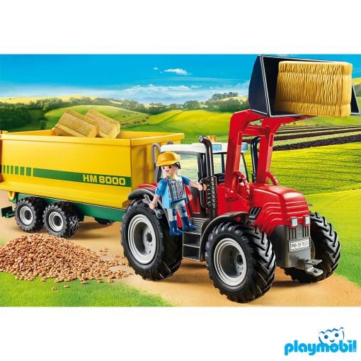 Playmobil 70131 Farm Tractor with Feed Trailer Figure เพลย์โมบิล ฟาร์ม รถเทรคเตอร์พร้อมรถพ่วงอาหารสัตว์