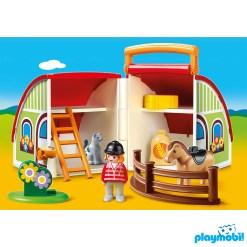 Playmobil 70180 1.2.3 My Take Along Farm Figure เพลย์โมบิล 123 ฟาร์มม้ากระเป๋าหิ้ว
