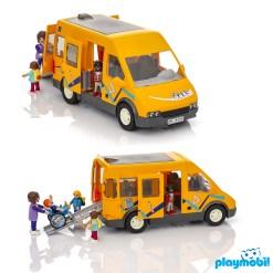 Playmobil 9419 Citylife School Van Figure เพลย์โมบิล ซิตี้ไลฟ์ รถโรงเรียน