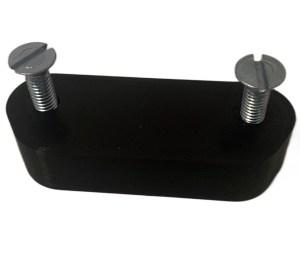 Ninebot Max Abstandshalter für die Stütze 1,5 cm dick schwarz mit M6x30 Schrauben