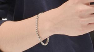 Pure Titanium Chain Bracelet is great with any outfit