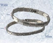 Titanium Bracelet Hard Coat is light and great with any outfit.