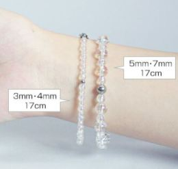 Different sized crystal for Titanium Crystal Bracelet