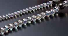 The Rainbow Color comes from Aqua Titanium coated on each crystal