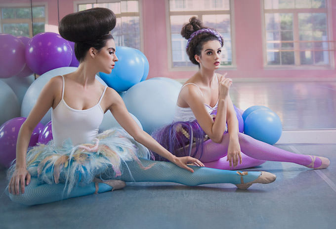 Two Ballerinas by Lauren Athalia