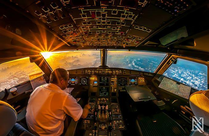 Sunrise in the Office by Karim Nafatni