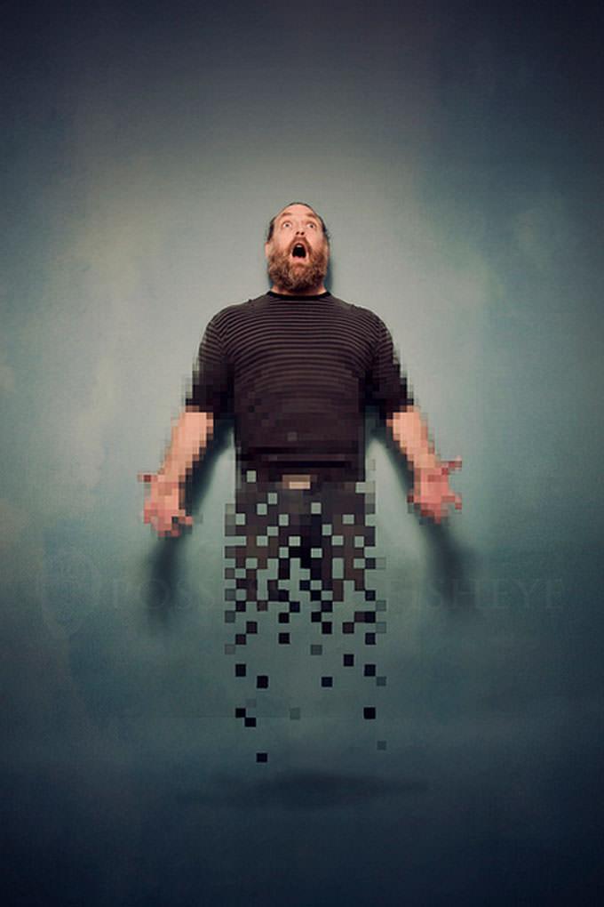 Falling pixels by Scott MacBride