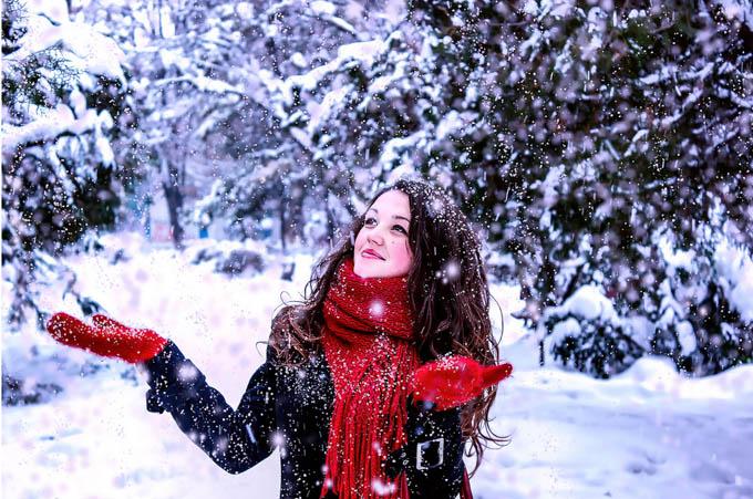 First Snow by Larisa Viviana