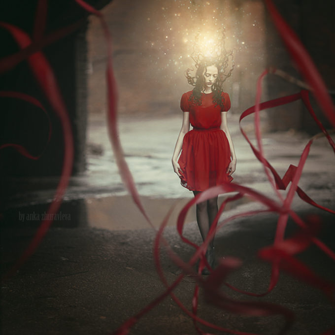 Color tales project- red by Anka Zhuravleva