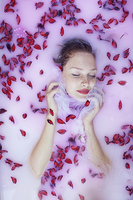 Drowning in Roses by Angelica Photography