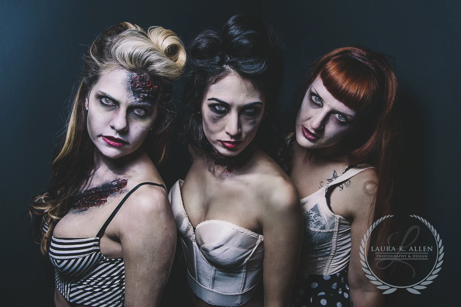 If pinups were Zombies | Laura K. Allen Photography & Design | Personal Project