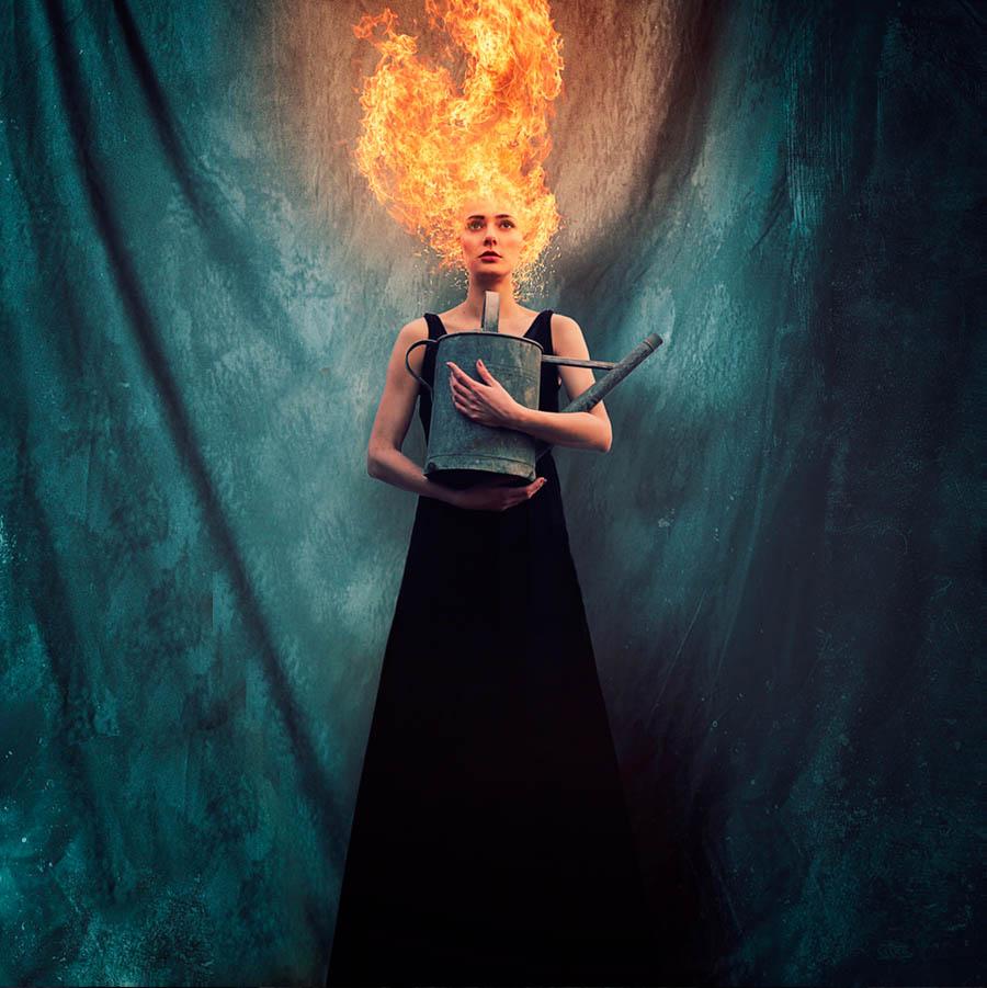in flames by Mehran Djo
