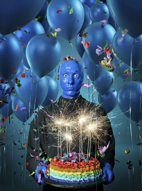 Blue Man Group by Mike Campau