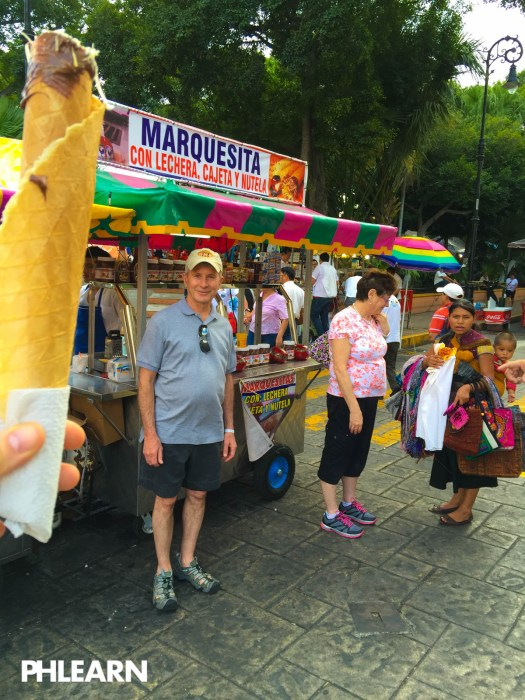 Once you try a marquesita, you will want another immediately. Here we are for round 2. My mom is doing some aggressive haggling in the background.