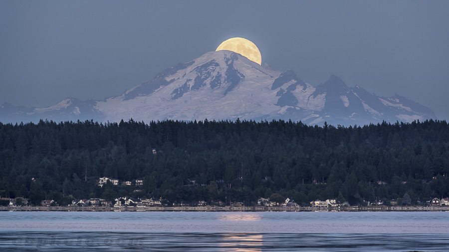 Blue Moon over Mt. Baker by Mark Donovan