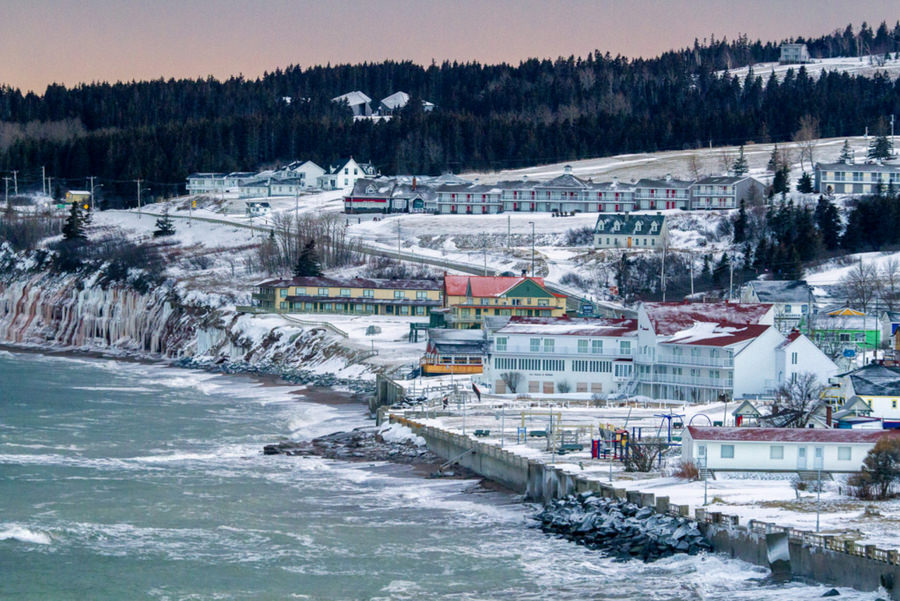 Perce Village under snow after the sunset by Danny VB
