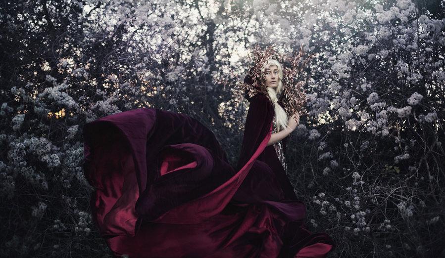 and she, with blush of rose, shall wander seeking.. by Bella Kotak