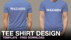Photoshop Tutorials: Phlearn T-Shirt Design Template (Plus Free Download!)