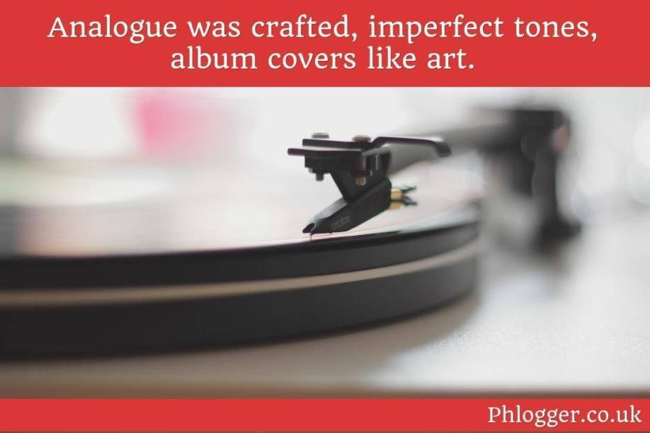 record player with analogue quote by phlogger