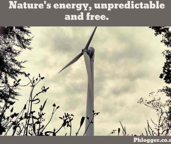 wind turbine picture with quote by phlogger