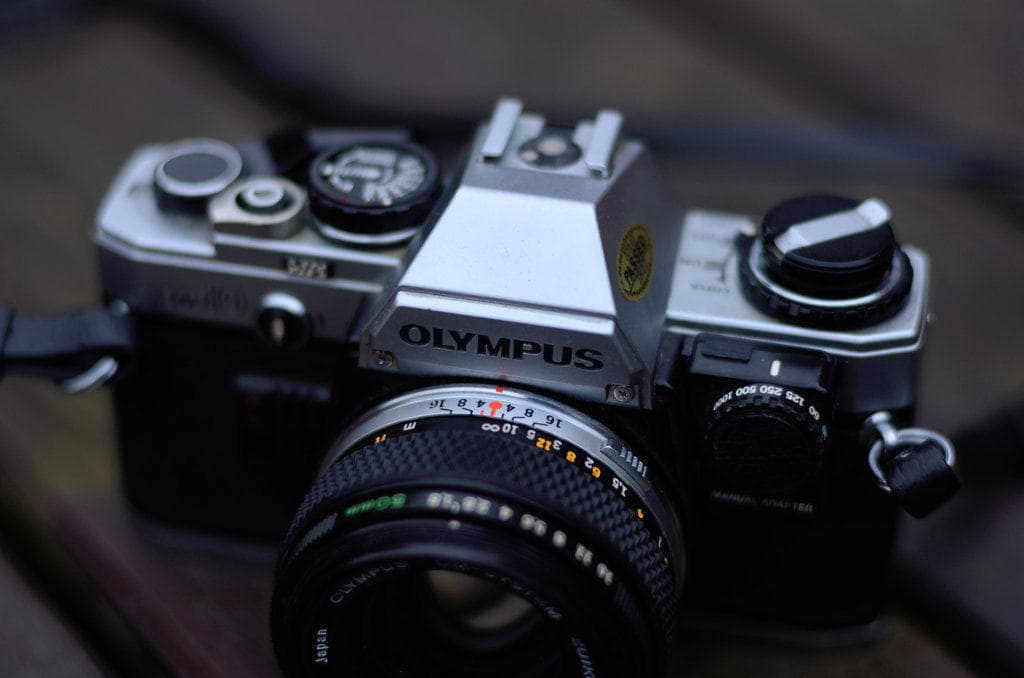 180 day film challenge - front of olympus om10