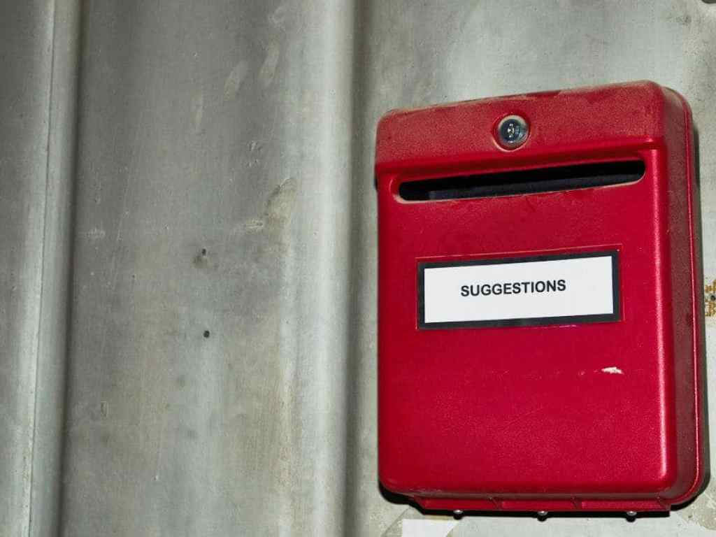 abandoned factory suggestion box