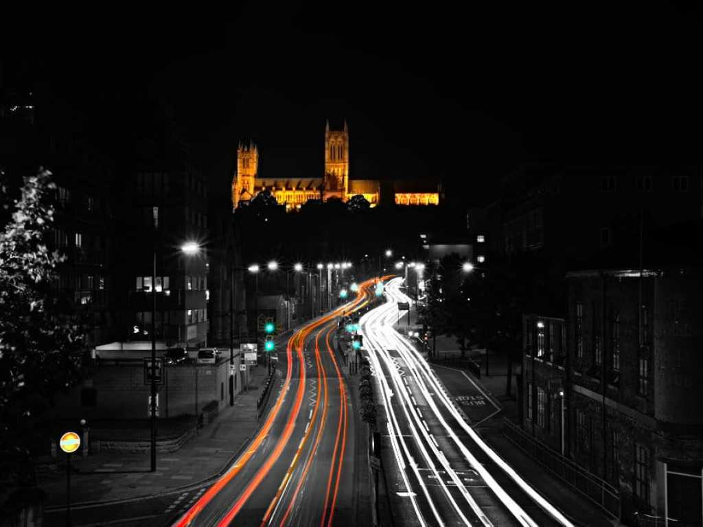 lincoln cathedral road long exposure