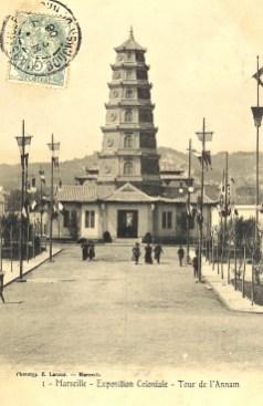 Replica van de Annam-toren 1910 (foto: Public domain)