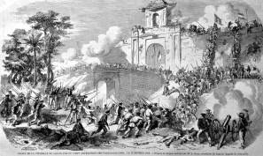 Verovering van Saigon 1859 (maker: onbekend/Public domain)
