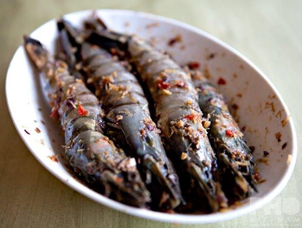 Reuzengamba's in Sa te-marinade (foto: Kim Le Cao © Pho Vietnam)