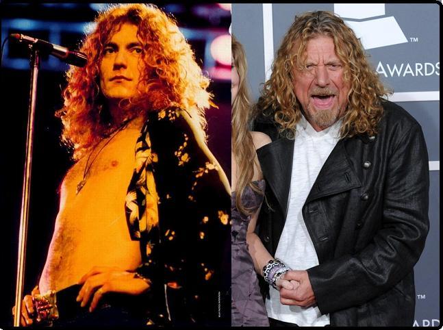 Robert Plant - Década de 70 - 2009 (respectivamente)