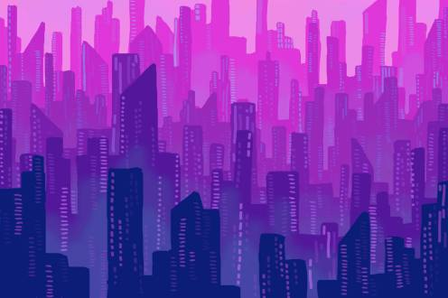 Futuristic city for the robot jigsaw puzzle picture