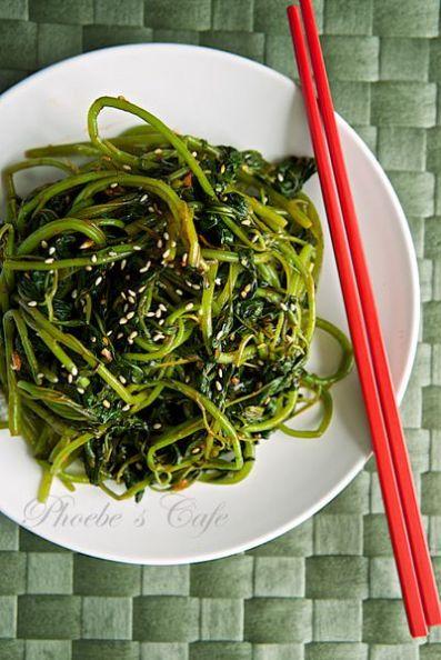 Korean spicy amaranth green salad recipe