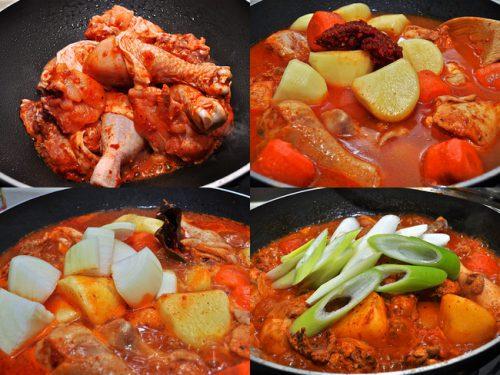 韓国風辛い鶏鍋 鶏ボクウムタン レシピ