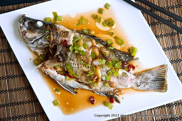 Chinese steamed fish recipe