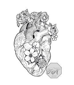 Anatomical Heart Tattoo design Phoebus Tattoos & Piercings
