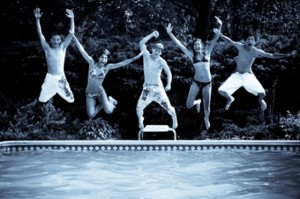 """Jumping Into Swimming Pool"" by Ian Kahn Free image courtesy of FreeDigitalPhotos.net"