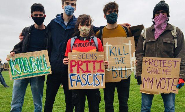 Cambridge #KillTheBill protesters